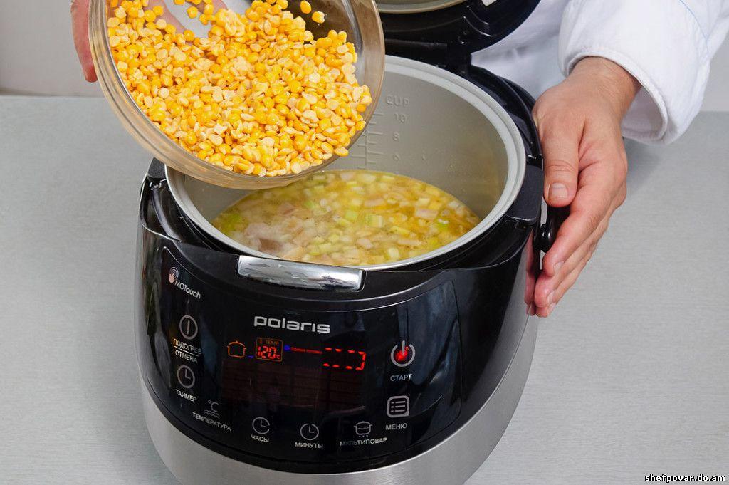 Как приготовить гороховый суп в мультиварке поларис